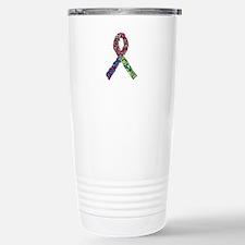 Rainbow Trisomy Ribbon Stainless Steel Travel Mug