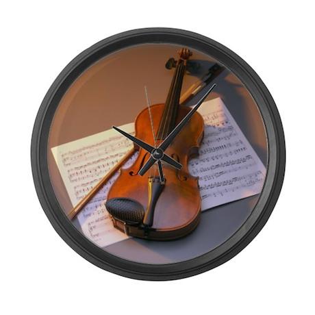 Violin Large Wall Clock