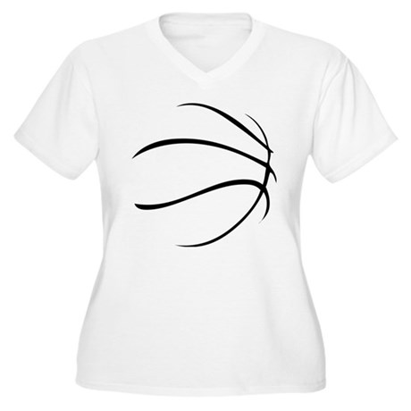Basketball Women's Plus Size V-Neck T-Shirt