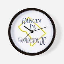 Hangin' in DC Wall Clock