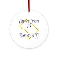 Gettin' Down in DC Ornament (Round)