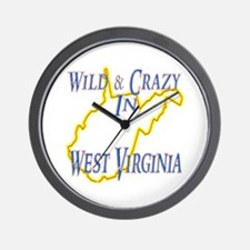 Wild & Crazy in WV Wall Clock