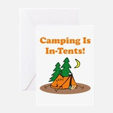 Camping Is In-Tents! Greeting Card