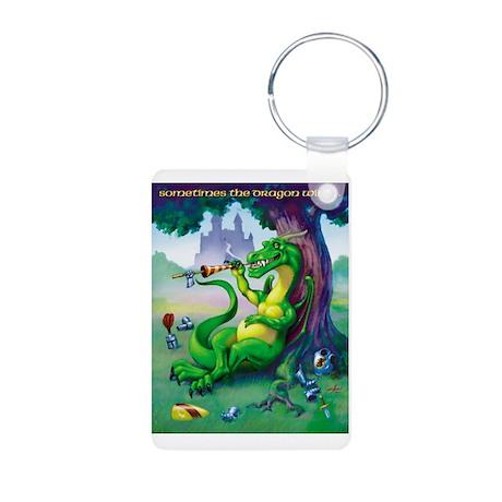 Sometimes the Dragon Wins Aluminum Photo Keychain