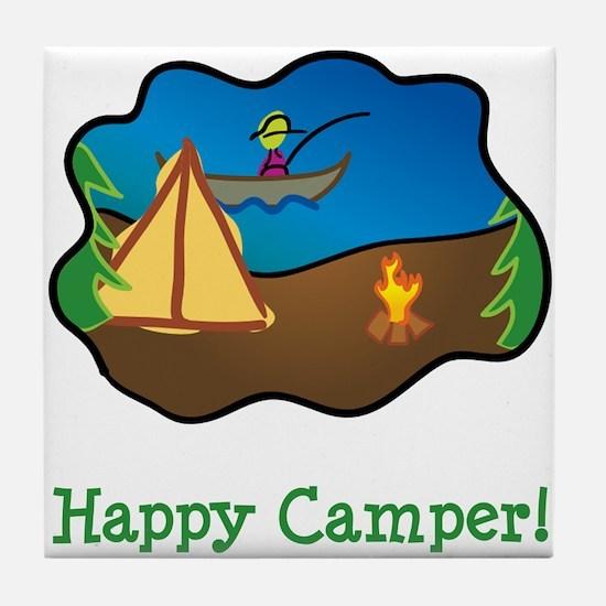 Happy Camper! Tile Coaster