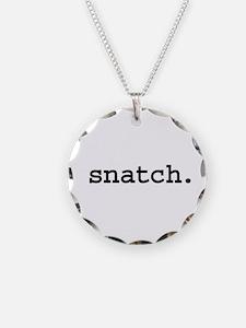 snatch. Necklace Circle Charm