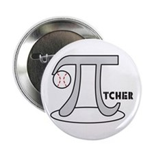 "Funny Baseball Pi-tcher 2.25"" Button"