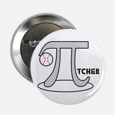 "Funny Baseball Pi-tcher 2.25"" Button"