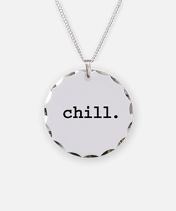 chill. Necklace Circle Charm