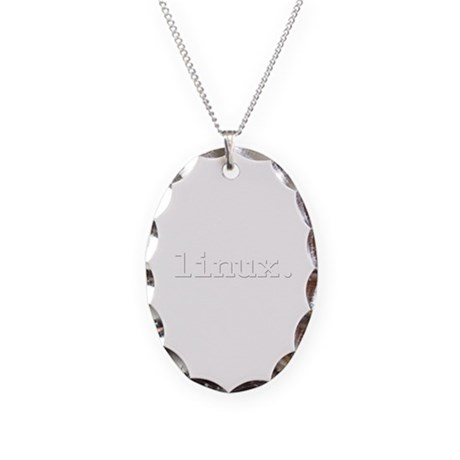 linux. Necklace Oval Charm