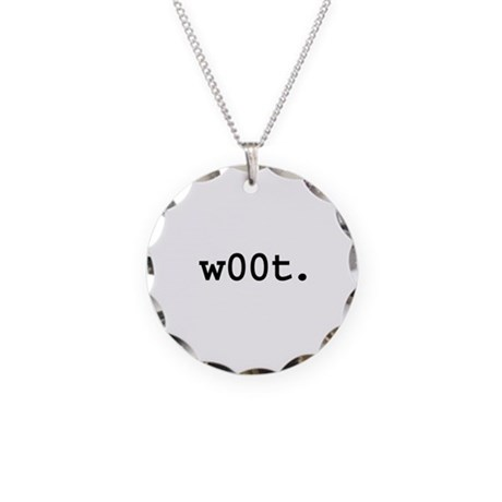 w00t. Necklace Circle Charm