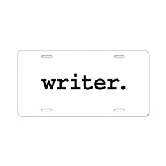 writer. Aluminum License Plate