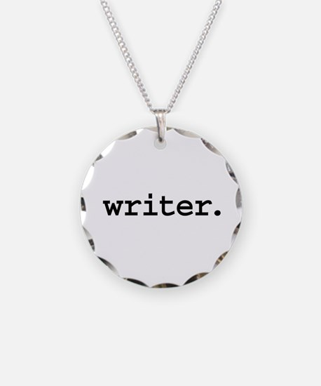 writer. Necklace Circle Charm