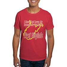 God Loves Me in WV T-Shirt