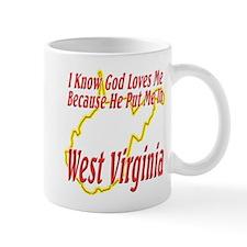 God Loves Me in WV Mug