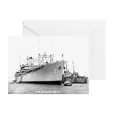 USS MARKAB Greeting Card