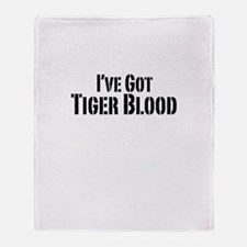 Tiger Blood Throw Blanket