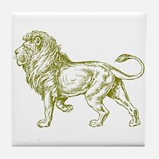 Gold Lion Tile Coaster