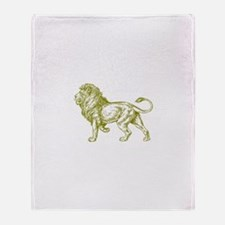 Gold Lion Throw Blanket