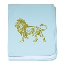 Gold Lion baby blanket