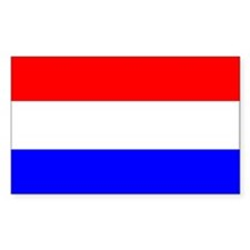 Netherlands Flag Rectangle Decal