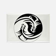 Dragon Ying Yang Rectangle Magnet