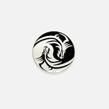 Dragon Ying Yang Mini Button (10 pack)
