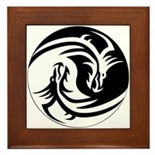 Dragon Ying Yang Framed Tile