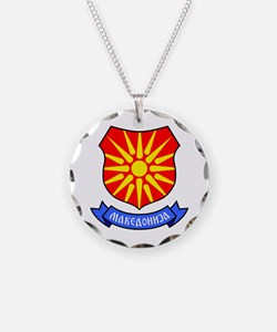 Necklace Circle Charm Macedonia Ray Crest