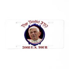 Pope Benedict XVI 2008 US Tou Aluminum License Pla
