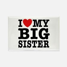 I Love My Big Sister Rectangle Magnet