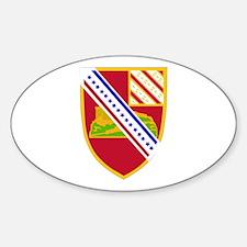 DUI - 1st Bn - 17th FA Regt Sticker (Oval)