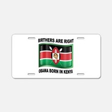 BORN IN KENYA Aluminum License Plate