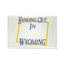 Hanging Out in WY Rectangle Magnet