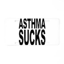 Asthma Sucks Aluminum License Plate