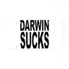 Darwin Sucks Aluminum License Plate