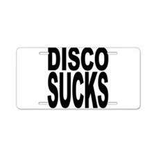 Disco Sucks Aluminum License Plate