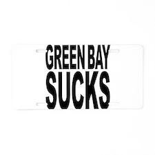 Green Bay Sucks Aluminum License Plate
