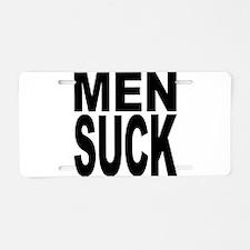 Men Suck Aluminum License Plate