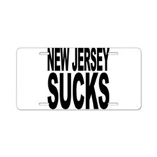 New Jersey Sucks Aluminum License Plate