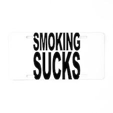 Smoking Sucks Aluminum License Plate