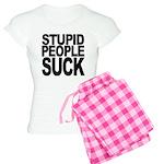 Stupid People Suck Women's Light Pajamas