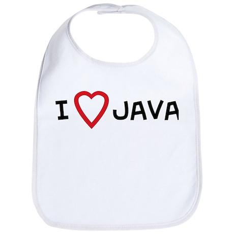 I Love Java Bib