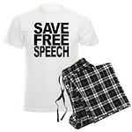 Save Free Speech Men's Light Pajamas