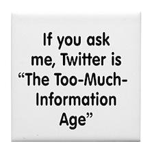 TMI on Twitter Tile Coaster
