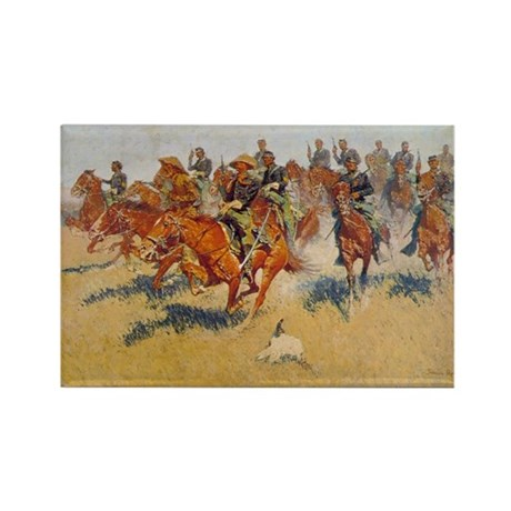 The Cavalry Charge Rectangle Magnet