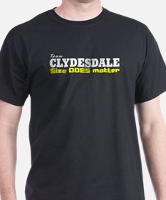 """Team Clydesdale"" Black T-Shirt"