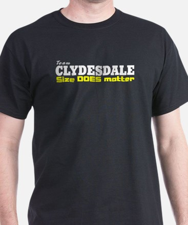 """""""Team Clydesdale"""" Black T-Shirt"""