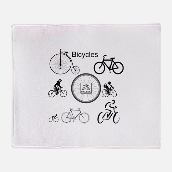 Bicycles May Use Full Lane Throw Blanket