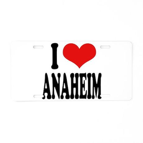 I Love Anaheim Aluminum License Plate